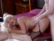 my slut wife Bridgette B wants DP with another guy- so we fuck her together