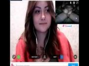 Reacciones de nenas al ver mi polla en la web cam. 16