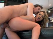 Beautiful Kristina Rose goes for deepthroat and anal