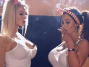 Smoking schoolgirl sisters