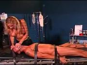 Facesitting blonde dominatrix