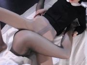 Pantyhose Foot Massage and Tribbing until Org
