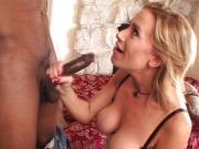 Kylie Worthy deepthroating black dick
