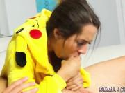 Young teen girls scissor and face Poke Man
