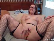 Awesome redhead Nerdy Nympho orgasm