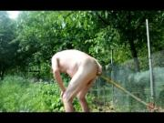 transvestite garden outdoors anal fisting man tranny 62