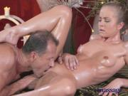 Massage Rooms Petit blonde gets hard fucking