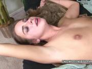 Natalie takes a stiff cock in her tight twat