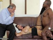 Bitch Husband sees Hot Wife fuck Black Guy