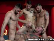 'Hot Foursome With Big Dick Muscle Hunks - RagingStallion'