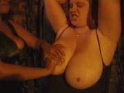 Big natural tits chained