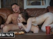 Bellesa - Small tit Redhead Ganni Rivers gets covered in cum