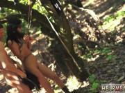 Brutal gangbang forest Teen Jade Jantzen