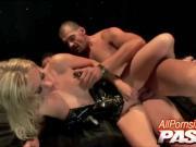 'Sexy Latex Clad Blonde Angela Stone Live Sex'
