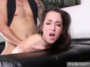Sex with a dirty girl and cum on her face