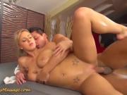 Nathaly Cherie gives slippery nuru massage