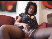 Mature busty babe Danica talks dirty