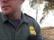 Border hopping redhead babe banged in pussy at the border