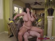 Curvy MILF Sybil Stallone Sucks And Rides Pool Boy