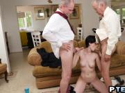 Teen loves taking care of elders stiff boners