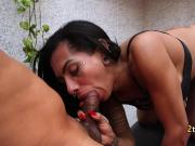 Tranny got ass rimming and good fuck