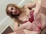 Foxy czech nympho gapes her slim vagina to the bizarre