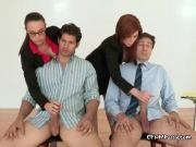Secretaries Grope Big Hard Cocks Of Bosses