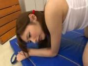 Lovely Asian Teenie Slammed In The Gym