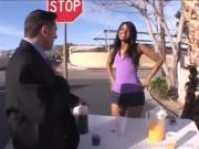 Kinky Ebony Chick Performs Fellatio On Screws Throbbing Penis