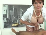Unfaithful english milf lady sonia showcases her massive balloons