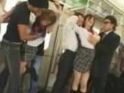 Schoolgirls in Trouble with Train Pervs!