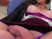 Busty shemale River Stark gets anal pounded hard and deep