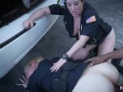 Chubby female cops got their wet pussies wrecked