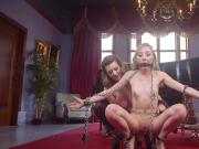 Blonde slave anal banged in threesome bdsm