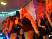 Peculiar girls get completely insane and naked at hardcore party