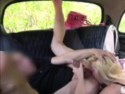 Blonde babe gave up her ass to nasty driver in the cab