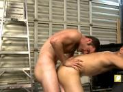 Handsome studs banging hard in the ass