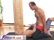 Blonde Ivana Sugar Strokes Trainer Cock And Licked