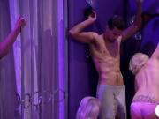 Blondie women stripping and get pounded while other watched