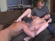 Dirt poor stud allows wicked mate to penetrate his gf for dollars