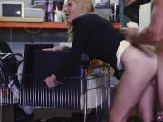 Slowly blowjob and cum Hot Milf Banged At The PawnSHop