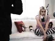 Twisted blonde brat Chloe Cherry gets an ANAL FUCK