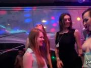 Flirty sweeties get absolutely insane and stripped at hardcore party