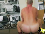 Enormous cock stretches tight ass