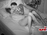 Tattooed dude pounding lovely girl