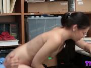Teen Bobbi takes big dick for stealing in shop