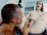 Hot nanny Dolly Leigh gets her pussy fingered and rimmed