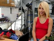 Hot Latina blonde Is coerced into taking directors big black cock