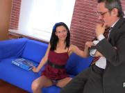 Nice schoolgirl is seduced and rode by her older tutor