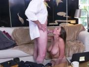 Teen old man rough blowjob Ivy impresses with her immense breasts and